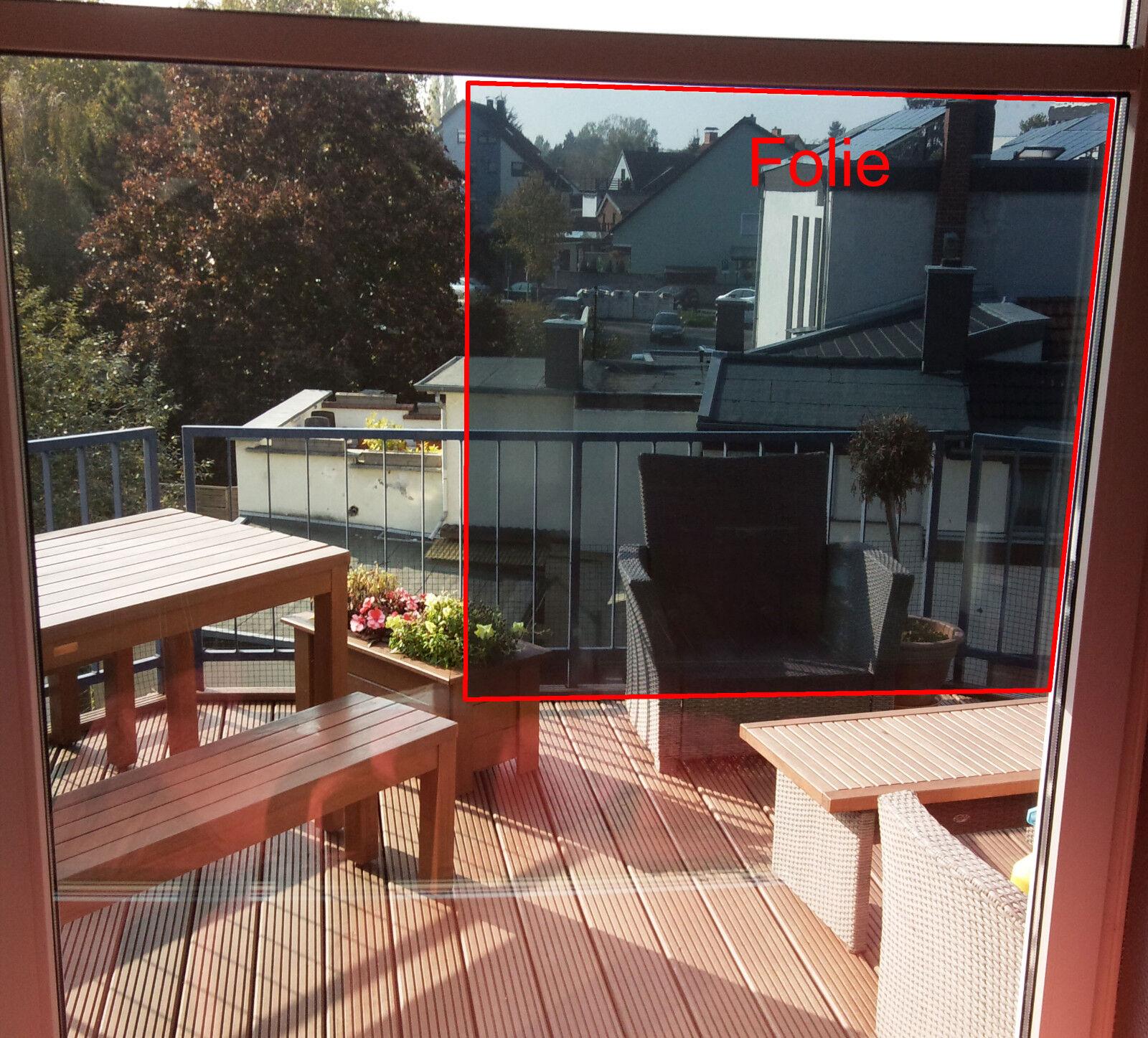 Fensterfolie & Sonnenschutzfolie Silber 80 EX dunkel mit Spiegeleffekt - wählbar