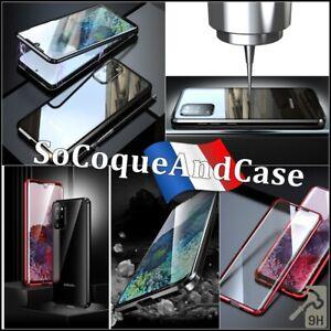 Coque Magnétique Metal Verre Trempé Glass Case Samsung Galaxy S20, (plus), Ultra
