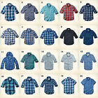 NWT Hollister by Abercrombie&Fitch Plaid Shirt Denim Poplin 100%Cotton Blue Navy