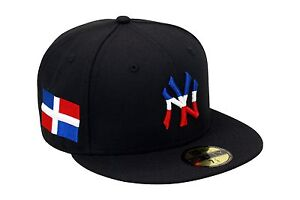 "New Era WBC /""DR/"" Fitted Hat DARK ROYAL//RED//Dominican Republic Flag Side Patch"