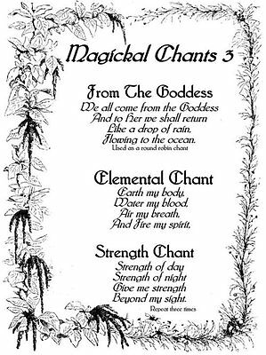 """A5 Print – Wiccan Spell """"Magical Chants"""" (Picture Poster Art Ritual Magic  Witch)   eBay"""