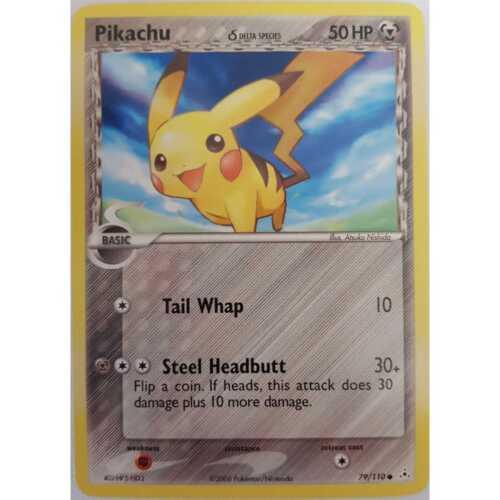 Delta Species EX Holon Phantoms Pokemon Pikachu 79//110 Englisch NM