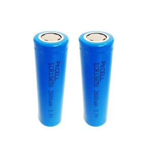 2-18650-Li-ion-Rechargeable-Batteries-2600mAh-3-7V-Flat-Top-PKCELL