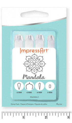 ImpressArt MANDALA STAMP  SET 2 **FREEPOST SALE** NEW