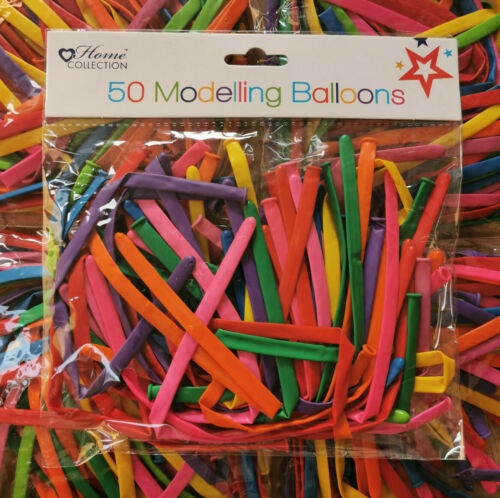 Pack of 50 MODELLING BALLOONS Birthdays Party Fun Play UK STOCK