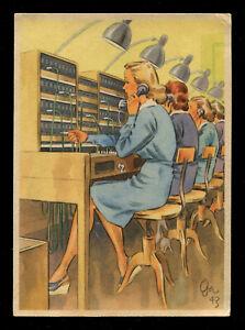Germany 3rd Reich German WWII WW2 Picture Postcard Cover Women War Effort 1943