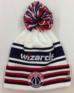 9ab726203dc NBA Washington Wizards Adidas Cuffed Pom Knit Hat Cap Beanie Style ...
