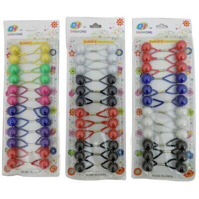 Duralon Set of 50 Black Thick Hair Elastics Bobbles Hair Bands Ponytail Hair Tie
