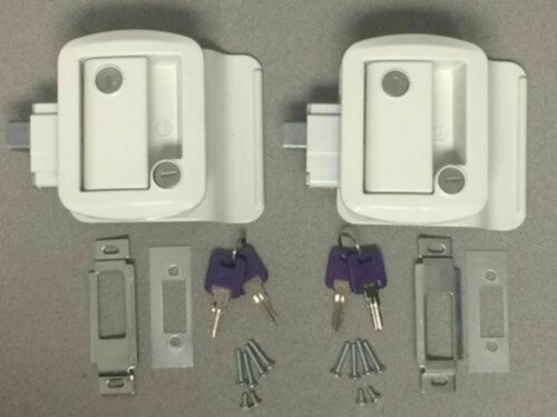 2 Global RV Entry Door Locks with Paddle Handle//Deadbolt KEYED ALIKE