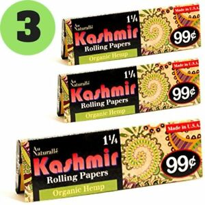 Details about Kashmir Rolling Paper 100% Organic Hemp 1-1/4 Cigarette  Rolling Papers - Made