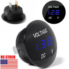 1x DC 12V LED Digital Voltage Volt Meter Display Voltmeter For Motorcycle Car