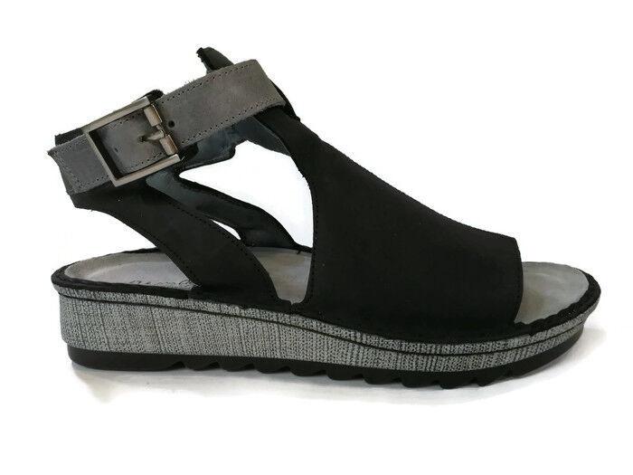 Naot Verbena Donna Shoes Sandals Pelle Wedge Flat Gladiator Platform New