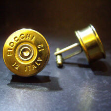 Fiocchi Shotgun Shell Cartridge Cap Cufflinks Clay and Game Shooting Steampunk