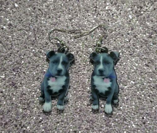 Pit Bull Terrier Dog Design 2 lightweight earrings jewelry FREE SHIP Mydogsocks