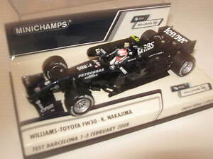 1-43-Williams-Toyota-fw30-K-NAKAJIMA-2008-test-400080308-Minichamps-OVP-NEW