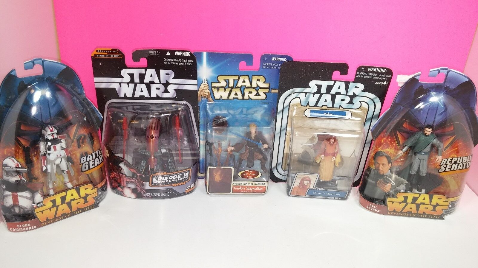 Star Wars Vintage Action Figure Lot New Rabe Clone Commander  Destroyer Droid