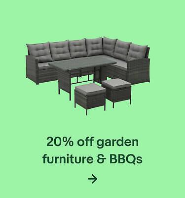20% off garden furniture & BBQs