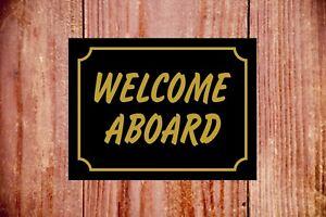 Welcome-aboard-sign-9382-Aluminium-PVC-Sticker-Novel-Gift-Idea
