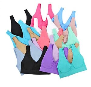 PACK-OF-3-Seamless-Comfort-Bra-Sports-Style-Crop-Top-Vest-Shapewear-Stretch