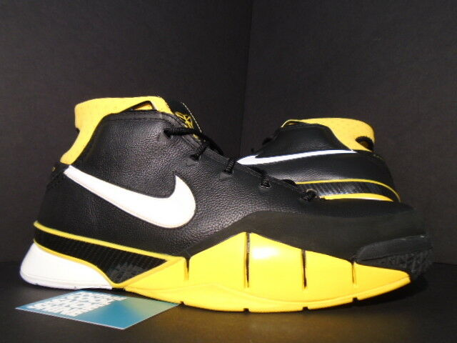 2006 Nike Zoom KOBE I 81 POINTS 1 BLACK MAIZE YELLOW WHITE GREY 313143-013 12.5
