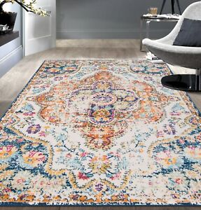 Rugshop-Vintage-Distressed-Bohemian-Area-Rug-Multi