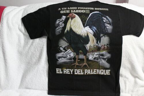ROOSTER GALLOS MONEY COCK FIGHT EL REY DEL PALENQUE T-SHIRT SHIRT