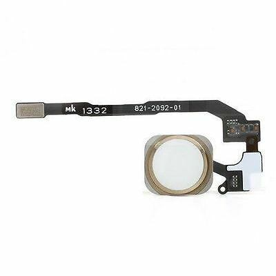 New Gold Home Button Flex Ribbon Cable Touch ID Sensor Assembly For iPhone 5S