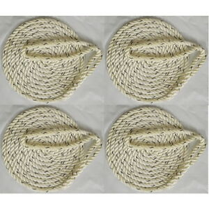 4 Pack of 5//8 Inch x 30 Ft Premium Twisted Nylon Mooring and Docking Lines