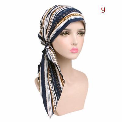 Women Muslim Stretch Turban Hair Loss Soft Cap Head Wrap Scarf Cancer Cap Hat