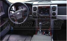 FORD F-150 F150 CREW CAB EXTENDED CAB INTERIOR WOOD DASH TRIM KIT SET 2013 2014