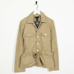 Vintage-Women-039-s-RALPH-LAUREN-Button-Up-Harrington-Style-Jacket-Beige-UK-8