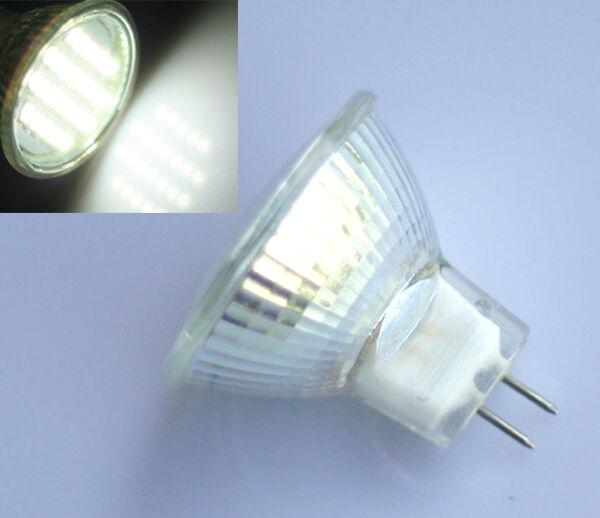 5X MR11 GU4 White 24 3528 SMD LED Spot Light Spotlight Lamp Bulb 12V