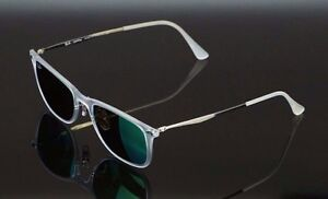 90ba509661 NEW RAY-BAN LIGHT RAY Matte Clear Green Mirror Lens Sunglasses RB ...