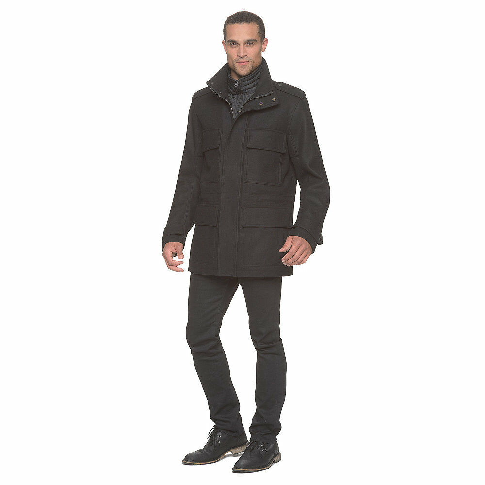 Men's Marc NY by Andrew Marc Liberty Wool Coat Ink XL  NKTUX-1068