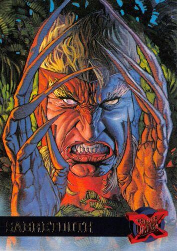 SABRETOOTH X-Men Fleer Ultra 1995 BASE Trading Card #41