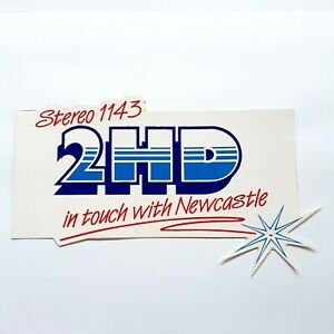 Vintage-2HD-Newcastle-Radio-Station-Sticker-2HD-Stereo-1143-Sticker-NOS