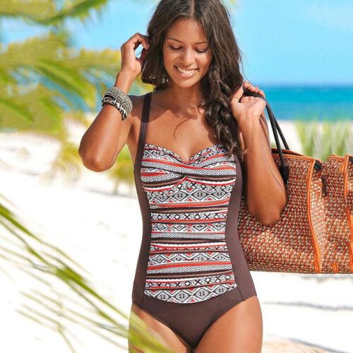 Damen Badeanzug Monokini Bikini Bademode Sommer Padded One Piece Badebekleidung