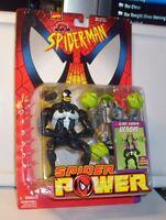 Toy Biz Spiderman Spider Power Slime Shaker Venom Figure Mint On Card