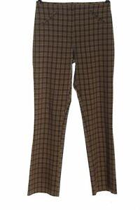 JEFFREY ROGERS Pantalon en jersey brun imprimé allover style décontracté Dames