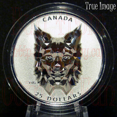 2020 Canada $25 MULTIFACETED ANIMAL HEAD:LYNX  SILVER COIN