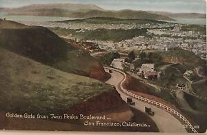 Golden-Gate-From-Twin-Peaks-Boulevard-San-Francisco-1910s-Postcard-California