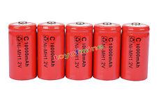 5 x C ricaricabile 1.2V Ni-MH 10000mAh della batteria RED delle cellule