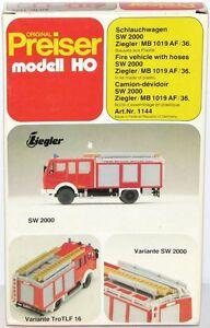 Preiser-h0-1144-chariot-de-tuyau-d-039-sw-2000-ziegler-MB-1019-AF-36-NEUF-OVP