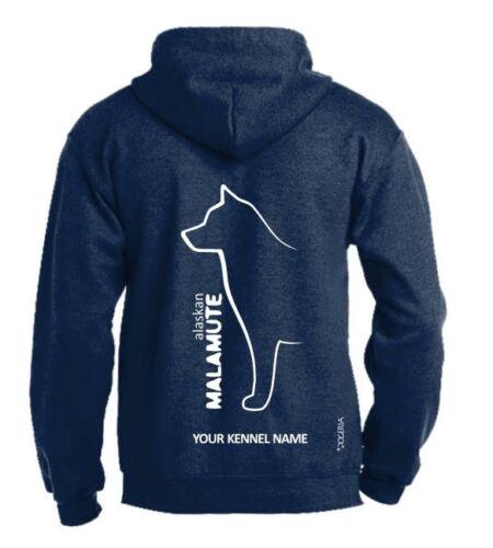 Exclusive Dogeria Design Alaskan Malamute Full Zipped Dog Breed Hoodie