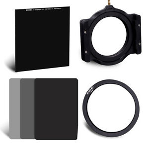 ZOMEI-77mm-100-100mm-Glass-ND1000-150-100mm-Resin-ND2-4-8-filter-kit-for-Cokin-Z