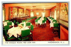 The-Masque-Room-Red-Lion-Inn-Hackensack-NJ-c1958-Chrome-Postcard-J25