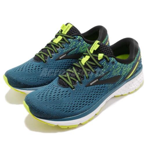 Brooks Ghost 11 Blue Black White Men Running Training Shoes Sneakers 110288 1D