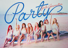 SNSD GIRLS' GENERATION - PARTY (Single) OFFICIAL POSTER with Tube Case
