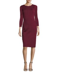 new concept 0b557 f6928 Dettagli su Elegante raffinato abito vestito tubino colorato rosso bordeaux  semplice 4127
