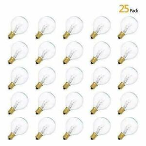 9/25Pcs G40 Globe Replacement Bulbs For Indoor Outdoor Festoon String Lights